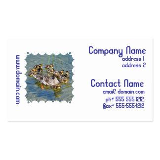 Tarjetas del negocio familiar del pato tarjetas personales