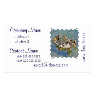 Tarjetas del negocio familiar del pato tarjetas de negocios