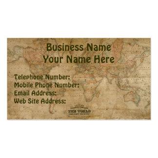 Tarjetas del negocio y del perfil del MAPA de VIEJ Tarjetas De Visita