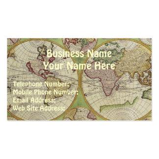 Tarjetas del negocio y del perfil del MAPA de VIEJ Plantilla De Tarjeta De Negocio