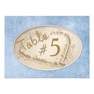 """TARJETAS DEL NÚMERO DE LA TABLA (5,5 X 7,5) - INVITACIÓN 5.5"""" X 7.5"""""""