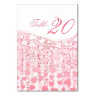 Tarjetas del número de la tabla del boda - casar