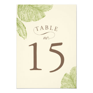 """Tarjetas del número de la tabla del boda de la invitación 5"""" x 7"""""""
