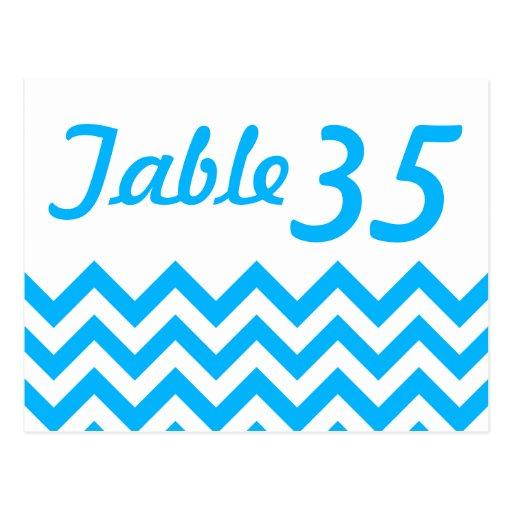 Tarjetas del número de la tabla del boda de postal