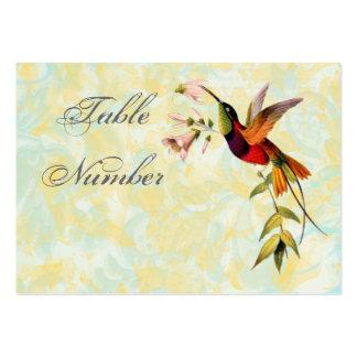 Tarjetas del número de la tabla del colibrí del vi plantilla de tarjeta de negocio