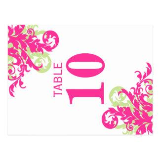 Tarjetas del número de la tabla del Flourish del Postal