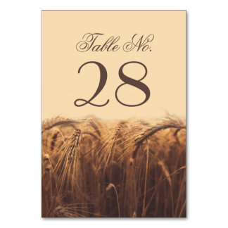 Tarjetas del número de la tabla del trigo