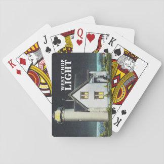 Tarjetas del oeste de la luz de la tajada (isla barajas de cartas