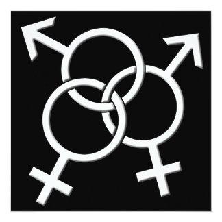 Tarjetas del orgullo de las invitaciones LGBT del Invitación Personalizada