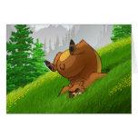 Tarjetas del oso el tropezar