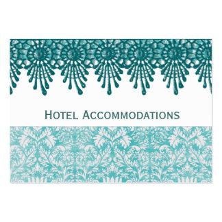 Tarjetas del parte movible del alojamiento de hote tarjetas de visita grandes