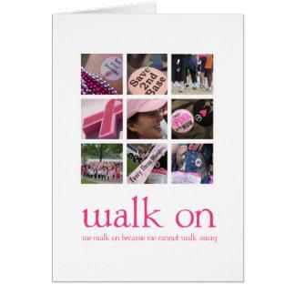 Tarjetas del paseo del cáncer de pecho