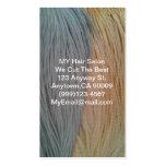 Tarjetas del pelo o de la pluma del pelo plantilla de tarjeta personal