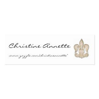 TARJETAS DEL PERFIL DE CHRISTINE ANNETTE TARJETA DE VISITA