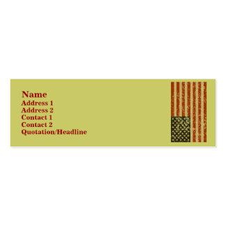 Tarjetas del perfil de la bandera americana tarjetas de visita mini