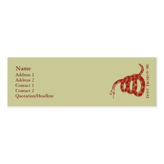 Tarjetas del perfil de la bandera de Gadsden Tarjeta De Negocio