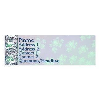 Tarjetas del perfil de la filigrana tarjetas de visita mini