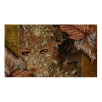 Tarjetas del perfil de la ninfa de madera del tarjeta de visita