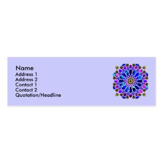 Tarjetas del perfil de la noria tarjeta personal