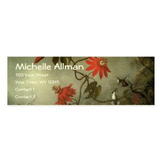 Tarjetas del perfil de las flores y de los tarjetas de visita