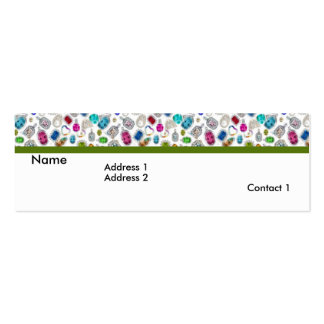 Tarjetas del perfil de las joyas 1 tarjetas de visita mini