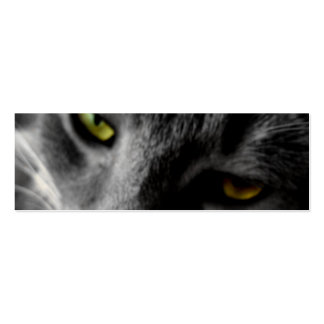 Tarjetas del perfil de los ojos de gato tarjetas de visita mini