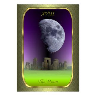 Tarjetas del perfil de Tarot - la luna Tarjeta De Visita