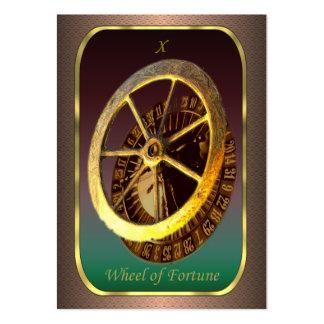 Tarjetas del perfil de Tarot - la rueda de la Tarjetas De Visita Grandes