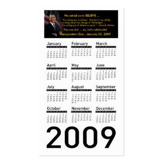 Tarjetas del perfil del calendario de la tarjetas de visita