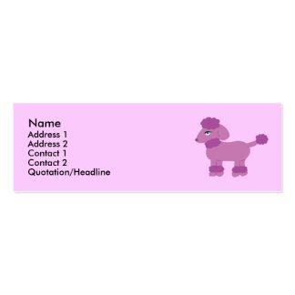 Tarjetas del perfil del caniche tarjetas de visita mini
