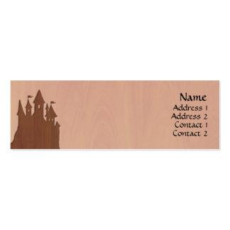 tarjetas del perfil del castillo del Hada-cuento Tarjeta Personal