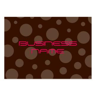 Tarjetas del perfil del chicle del chocolate tarjetas de visita