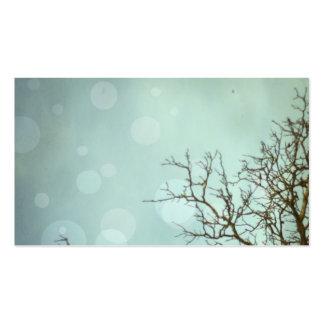 Tarjetas del perfil del cielo y del árbol tarjetas de visita