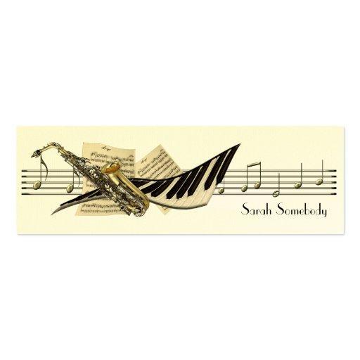 Tarjetas del perfil del diseño de la música mini tarjeta de visita