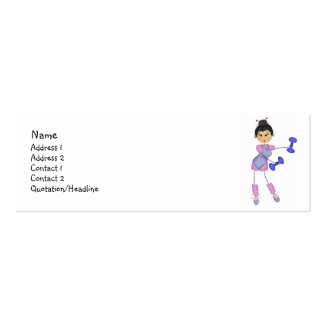 Tarjetas del perfil del ejercicio tarjetas de visita mini
