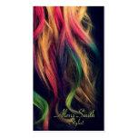 Tarjetas del perfil del estilista del arco iris tarjeta de visita