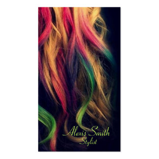 Tarjetas del perfil del estilista del arco iris tarjetas de visita