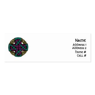 Tarjetas del perfil del medallón tarjetas de visita mini