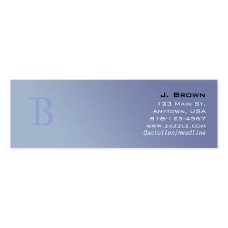 Tarjetas del perfil del monograma (b) tarjetas de visita mini