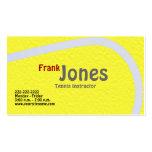 Tarjetas del perfil del tenis tarjeta de visita