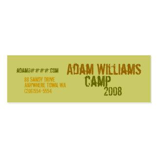 Tarjetas del perfil personal - campo plantillas de tarjetas de visita