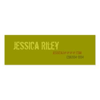 Tarjetas del perfil personal - campo tarjetas de visita mini