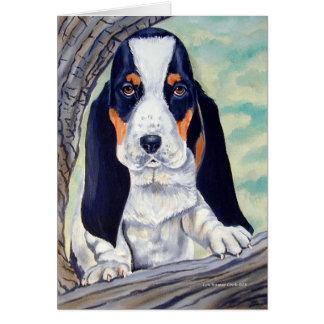 Tarjetas del perrito de Basset Hound