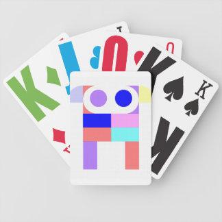 Tarjetas del perrito del robot barajas de cartas