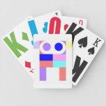Tarjetas del perrito del robot baraja cartas de poker