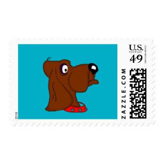 Tarjetas del perro de caza y productos de papel sello postal