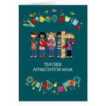 Tarjetas del personalizable de la semana del aprec