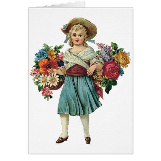 Tarjetas del personalizable del florista del vinta