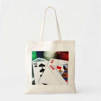 Tarjetas del póker bolsa tela barata