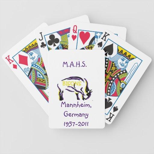 Tarjetas del póker con el bisonte de Mannheim Baraja De Cartas